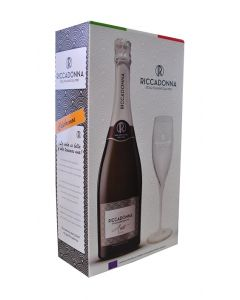 Pack Espumante Riccadonna Asti Botella + Copa 7°